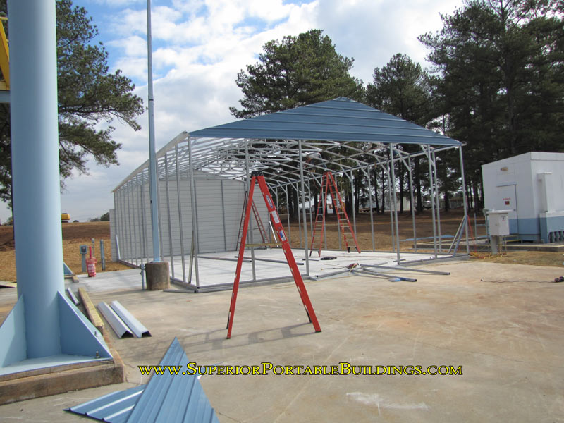 steel garage framing