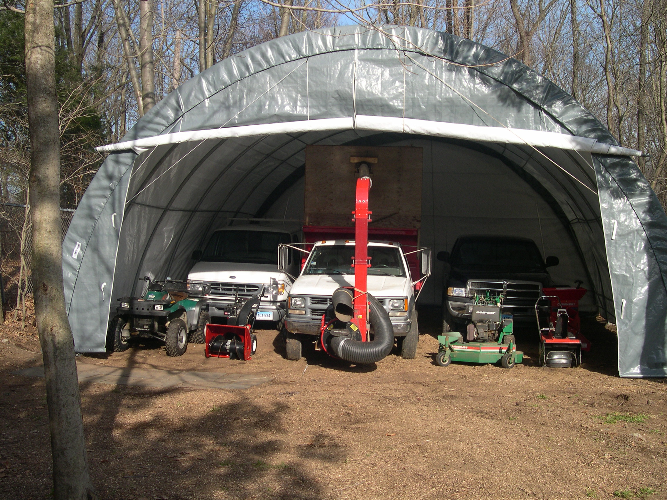 Shelter King Portable Garages : Quick three car garages