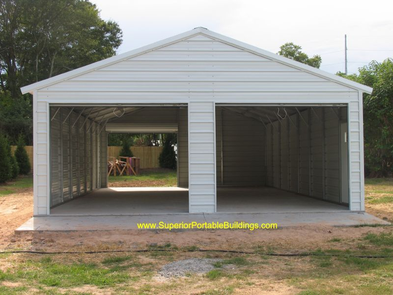 Wide Portable Carports : Featured garage